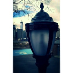 """il·luminate"" #Lamp #BrooklynHeights #Brooklyn #NewYorkCity #NYC #NewYork #SquibbPark #Cityscape #Perspective #UniquePerspectives #FreedomTower #Sky #Clouds #Trees #LowerManhattan #High #Elevated #abrooklynsoul #brooklynpoets #explore_brooklyn #explore_community #explore_nyc  (at Squibb Park)"
