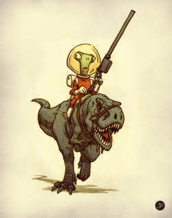 mrjakeparker:  Aliens and dinosaurs go so very well together I think.