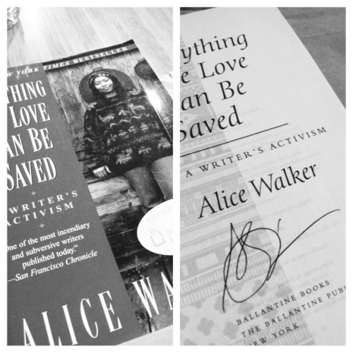 Things you find in a used bookstore. #AliceWalkerSignedThis #IFoundItAndHadICompleteMomentInPublic  (at Lionheart Books)