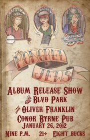 Jan 26~ The Mongrel Jews EP Release Concert! Featuring Blvd Park & Oliver Franklin, Seattle WA http://www.sepiachord.com/index/?p=5489