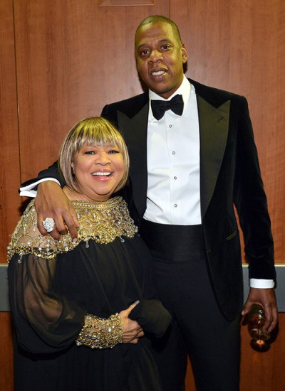 antirecords:  Mavis Staples and Jay Z after her performance on last night's Grammys