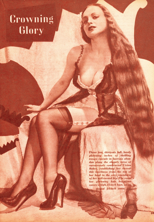Vivian Baker in Beauty Parade, October 1947. Vintage Scans