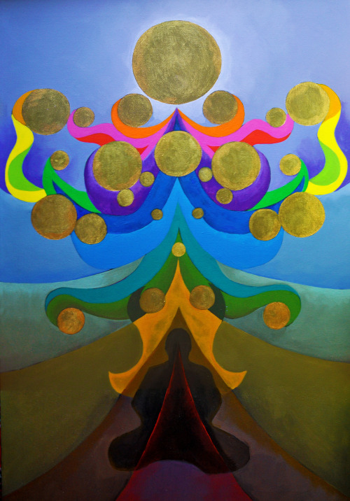 "paintmyworldrainbow:  ""Ascension"" Acrylic on canvas Buy a print here:"