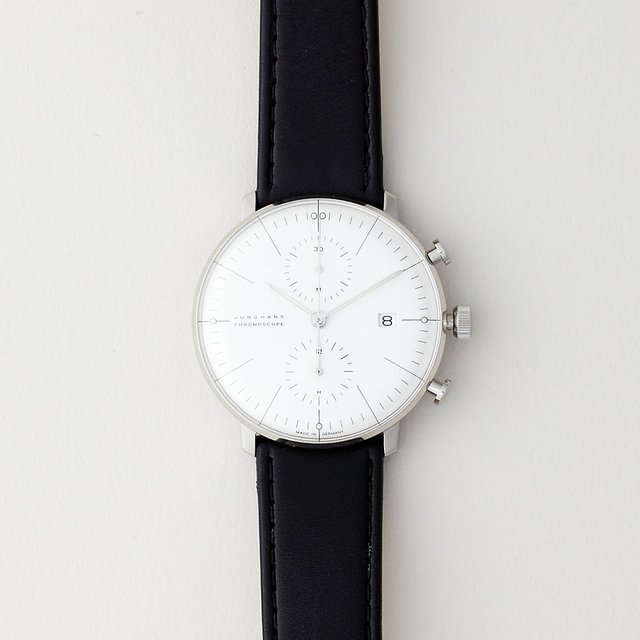 White Max Bill Chronoscope by Junghans