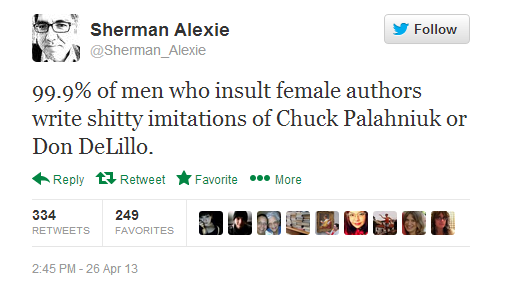 Sherman Alexie remains high in the running for my favorite person