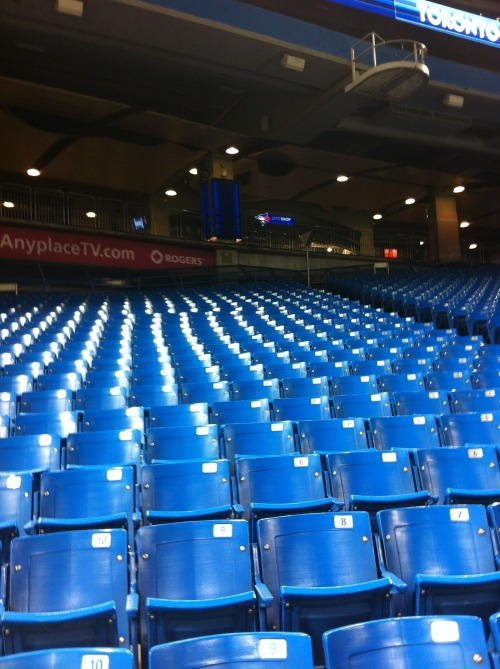 suicidalsqueeze:  Baseball is coming:  Soon enough these seats will be packed. (Photo by Alan Clough)  Less than three months away, baby!