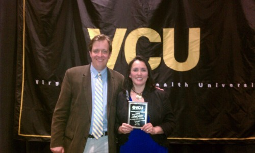 Excited to win the #VCU Community Engagement Award for #vcusocialmedia Institute with Marcus Messner + IYLEP team.