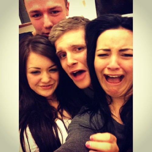 grimewavess:  Omg last night with @georginabarton @tilbyy @crayner92 - ugly cunts