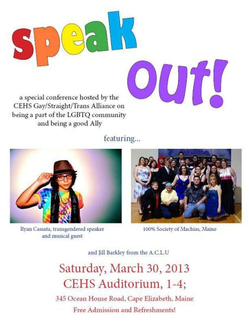 FREE CONFERENCE & MUSIC! #trans #music #speech This SATURDAY in MAINE! Open to the public!