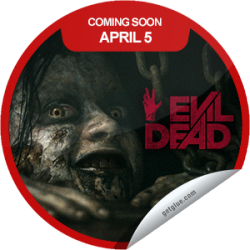 I just unlocked the Evil Dead Coming Soon sticker on GetGlue                      12025 others have also unlocked the Evil Dead Coming Soon sticker on GetGlue.com                  Once you unleash evil it will consume you. Be sure to see Evil Dead when it opens in theaters on 4/5.  Share this one proudly. It's from our friends at Sony Pictures.