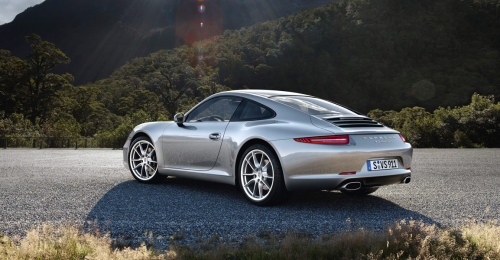 Porsche 991 Carrera vs. Carrera S: I know, I know, you probably haven't really been wondering what the differences are between the new Porsche 991 Carrera and Carrera S until now that you read that title. Well now that you're wondering.. These are the differences in standard and optional features straight from the Porsche website, everything else is the same (and there are endless identical features for both): Carrera 3.4L 6-cylinder making 350hp/287 lb-ft torque Top speed 179mph 0-60mph in 4.6 second Resonance intake system Dual-pass exhaust system with 2 single-tube tailpipes in brushed stainless steel Front 19-inch Carrera alloy wheels with 235/40 ZR 19 performance summer tires Rear 19-inch Carrera alloy wheels with 285/35 ZR 19 performance summer tires 4-piston aluminum fixed monobloc calipers front & rear Brake disc diameter: 330mm front & rear Black brake calipers Rear 911 Carrera badge Height: 51.30-in Curb weight: 3,042 lbs Door entry guards with Carrera logo (Carrera S logo available for posers) Coat hooks on seat backrests and B-pillar Price: $84,300 Carrera S 3.8L 6-cylinder making 400hp/325 lb-ft torque Top speed 188mph 0-60mph in 4.3 seconds Resonance intake system with control valve Four-pass multi-flow exhaust system with valve control and 2 twin-tube tailpipes in brushed stainless steel Front 20-inch Carrera S alloy wheels with 245/35 ZR 20 performance summer tires Rear 20-inch Carrera S allow wheels with 295/30 ZR 20 performance summer tires Ride height lowered 10mm (.39-in) Sport suspension Porsche dynamic chassis control 6-piston aluminum fixed monobloc calipers front & 4-piston aluminum fixed monobloc calipers rear Brake disc diameter: 340mm front & 330mm rear Red brake calipers Rear Carrera S badge Height: 50.98-in Curb weight: 3,075 lbs Door entry guards with Carrera S logo Price: $98,900 …and surprisingly, fuel mileage stays the same for both cars even though the Carrera S increases horsepower by 50 and weight by 33 lbs. In conclusion, the Carrera S costs $14,600 more, but in the end there are some pretty significant differences and surely the 'S' owner will appreciate every extra penny spent.