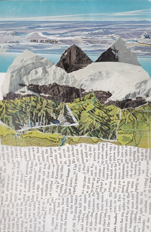 kirstenbradleyhendersonart:  Collage made from a 1970s National Geographic magazine