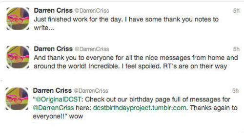 "Glad Darren liked our page! Way to go guys. Thanks to everyone who sent something in to make this thing awesome. We got a ""wow"" :)"