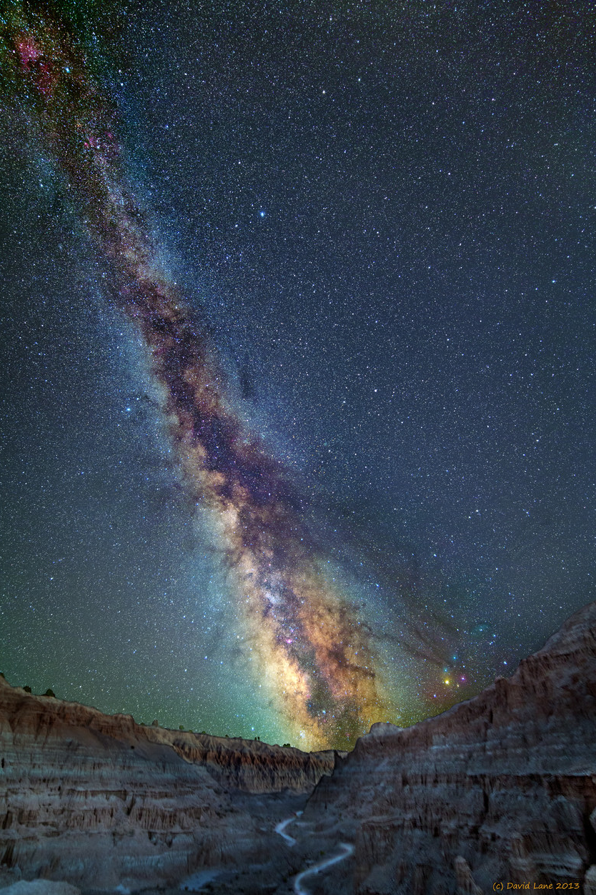 Milky Way over Cathedral Gorge State Park - Nevada | image by David Lane
