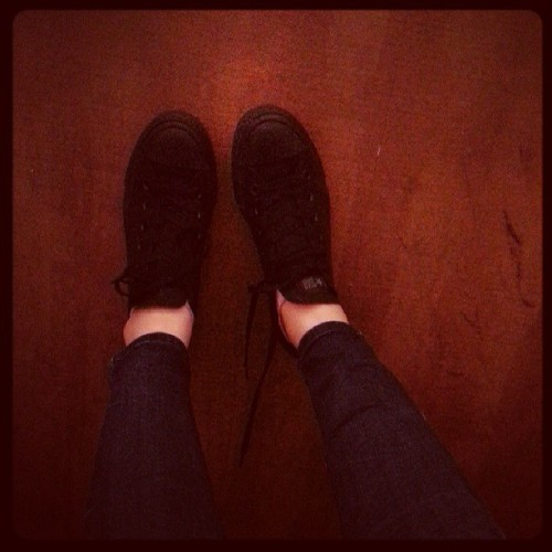 Don't know why its so hard for me to get used to looking at #black shoes..