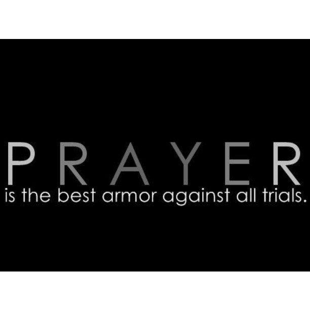 Pray all the time.