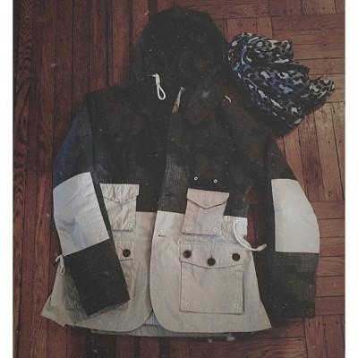 Laid out // Marshall artist jacket + @aleetange scarf. @nordstrommen