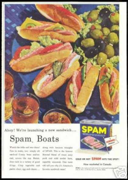 SPAM BOATS!!(via vintage ad browser)