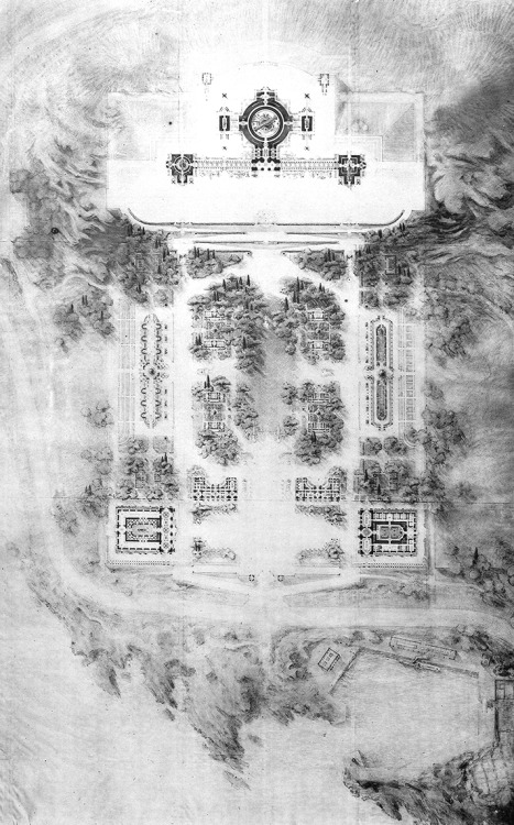 Drawing by Charles Nicod, as it appeared in Les Grands Prix de Rome d'Architecture, v. 5, 1907