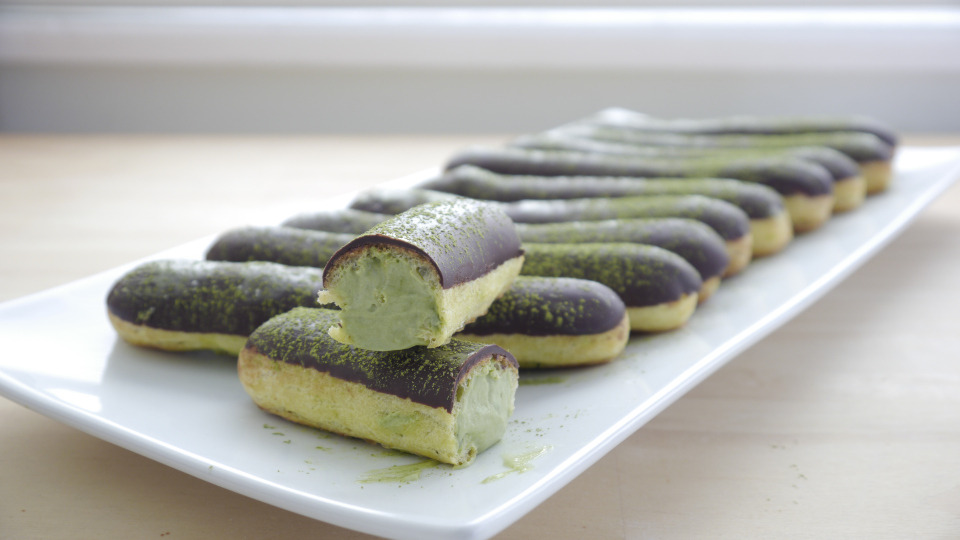Green Tea Eclair