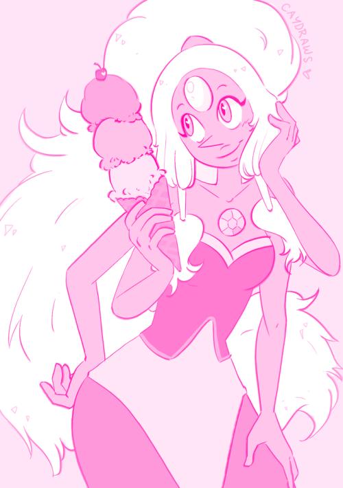 doodle steven universe opal sketch giant woman fanart ice cream