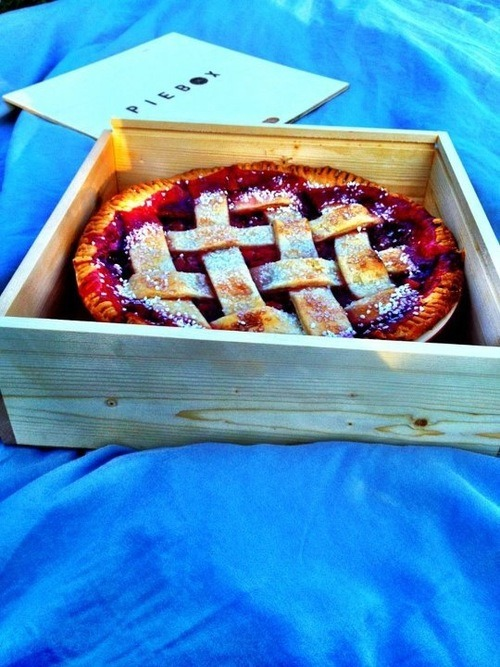 Carry your pie safely and smartly! Boxes made in Chicago and just the right size!