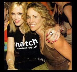 M with Sheryl Crow at the launch party for Music.