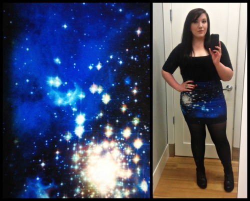 Galaxy print skirt from Hot Topic!