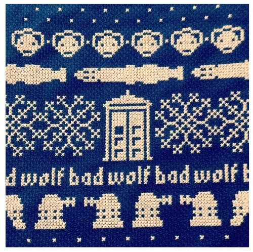 My Doctor Who cross stitch i created for my awesome friend.
