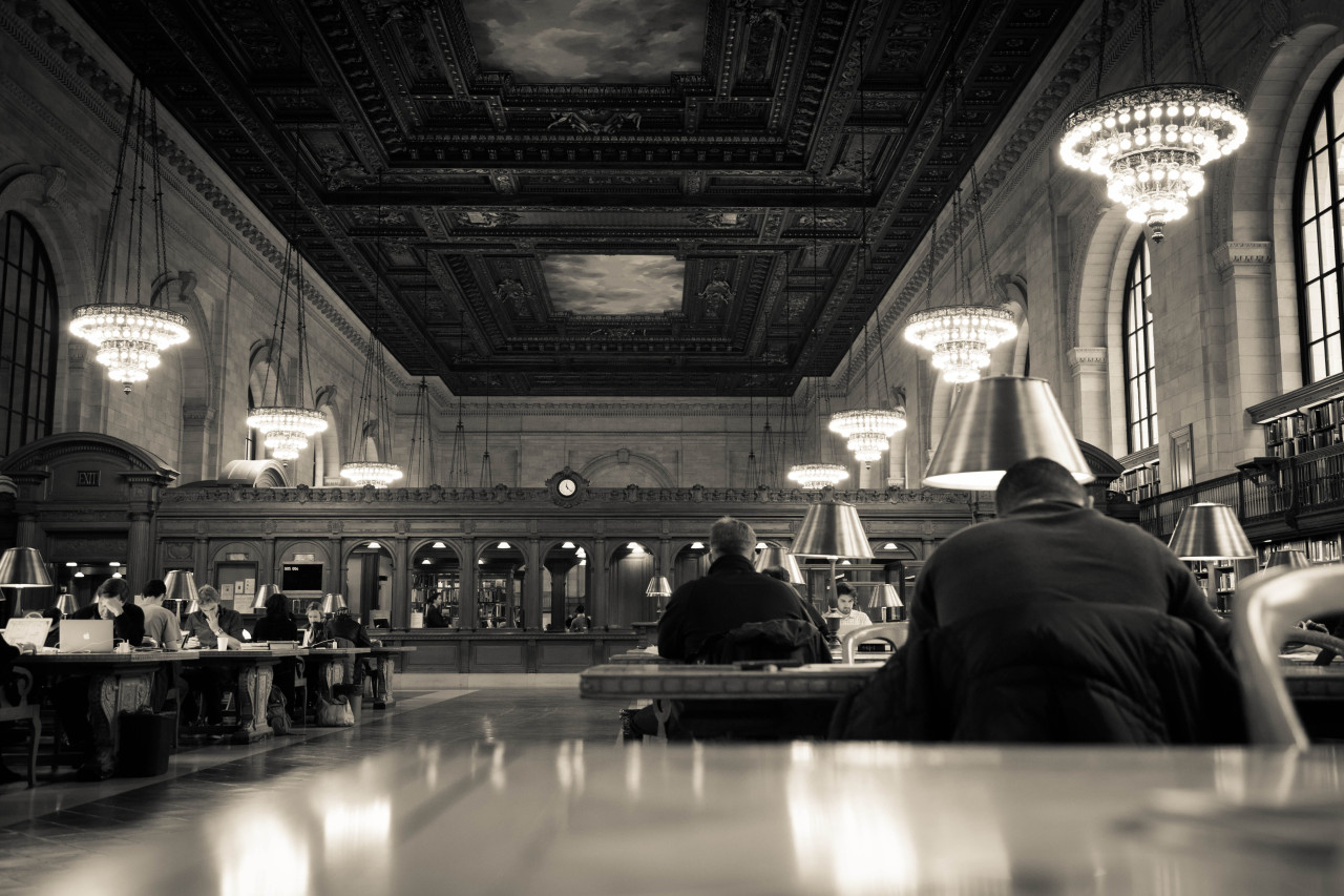 Main Reading Room, New York Public Library. Photography is officially banned here, but I couldn't help myself.