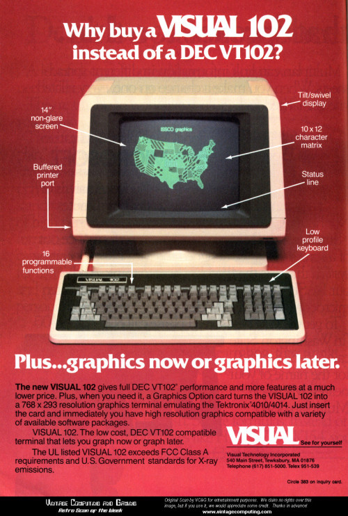 Visual 102 Graphics Terminal - 1984 VC&G