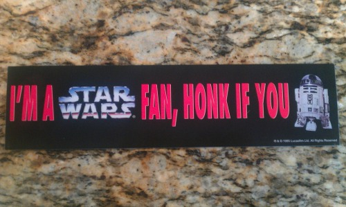 starwars1990s:  I'm a Star Wars fan, honk if you R2. 1995, LucasFilm