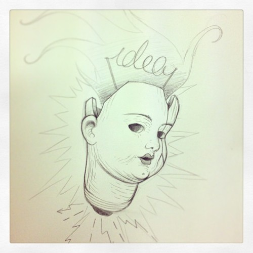 #idea #tattoo #mini #sketch #pencil #doll (presso Kaifa's Studio Tattoo & Body Piercing)