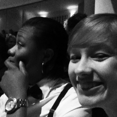 Mia & I at the Blumeys!