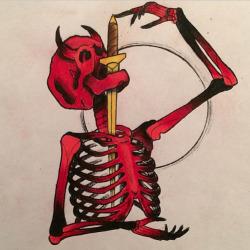 art tattoo skeleton oddities tattoo art sword swallowing