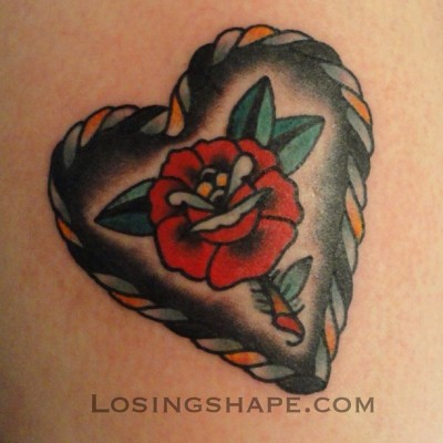 losingshape:  Did this on @jessemadeit the other day at Thicker Than Water