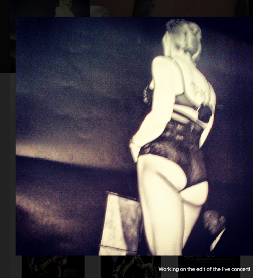 """Working on the edit of the live concert!"" #Madonna on Instagram 5"