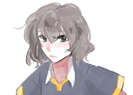 dailyunko:  Day 12: NOT shindou (Saku) Was meant to be a random shota. Then idk.  ?! I just realise he's in (grey)blue-and-yellow top with white collar;;