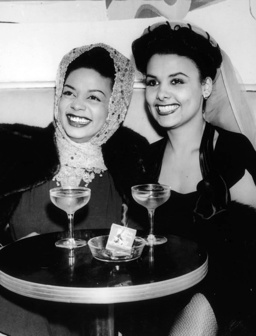 Hazel Scott and Lena Horne c. 1940s