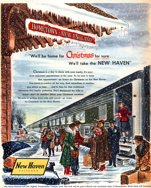 New Haven Railroad - published in The New York Times Magazine - December 1953Credit: Wishbook on Flickr