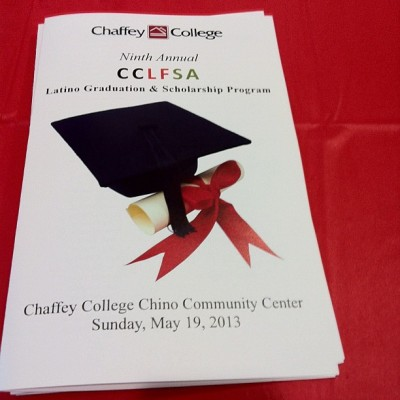 (Earlier today…) The Chaffey College Latino Faculty and Staff Association scholarship and graduate program! #ChaffeyCollege #CCLFSA #scholarship #graduate #merp  (at Chaffey College Chino Community Center)
