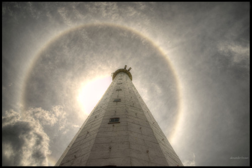 beingindonesian:  Halo above lighthouse at Belitung Island, Bangka Belitung, Indonesia. (by Alexander Brown)