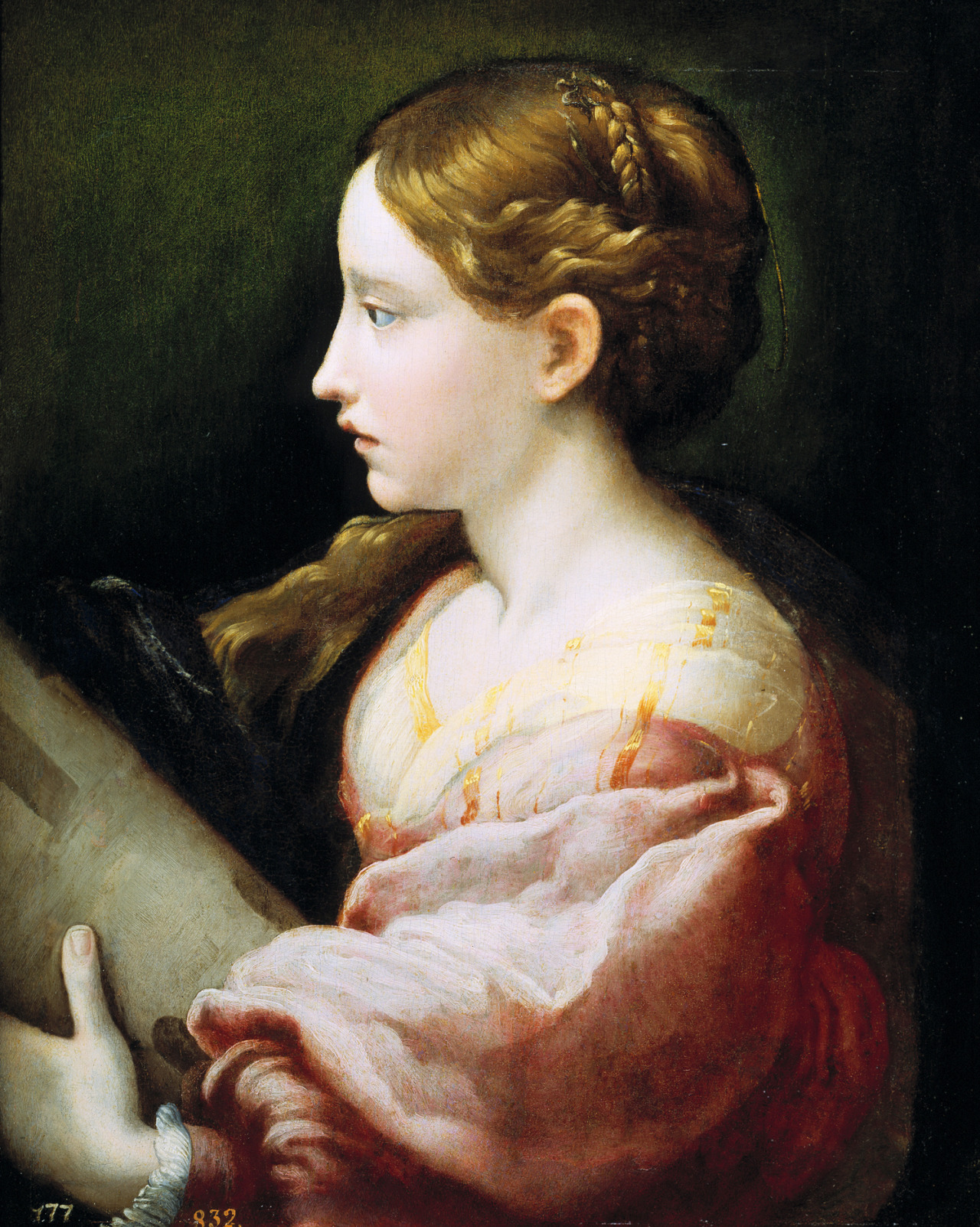 jaded-mandarin:  Parmigianino. Saint Barbara, 1522.