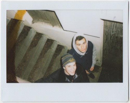 taoisdumb:  Christopher and Paul at the haunted building