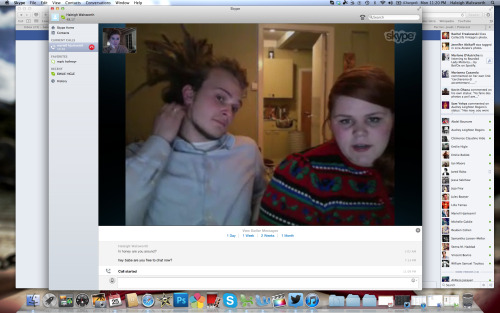 Skype sesh with Mariell and Jostein!