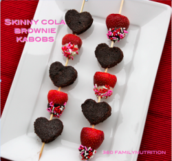 Diet Friendly Valentines Brownie Kabob Recipe