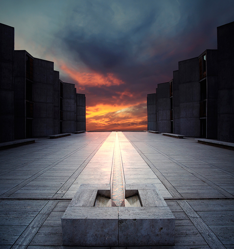 smithsonianmag:  Photo of the Day: Salk Institute in California at sunset Photo by: John Souza (Somerset, Massachusetts); La Jolla, California