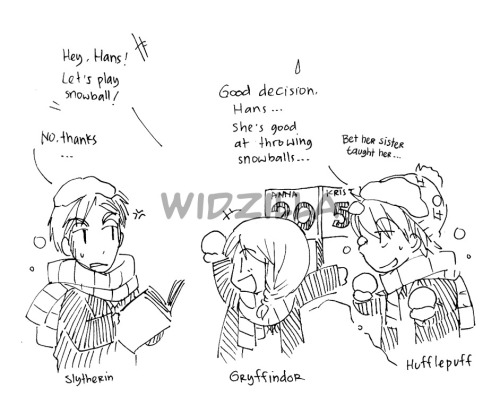 widzilla:  Read from left to right. Behold my bad handwriting and messy sketches =)))) I couldn't sleep until morning so I made this xDD My fave pairings here. I know you have your own fave :) Pitch isn't a good teacher when it comes to his favorite subject =)))) Hans need more love you know xDD <3 And I love him xD