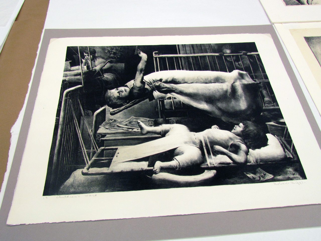 printstamps:  A day in the studio: George Bellows and Robert Riggs An amazing opportunity to see a set of original lithographs, brought in class today by Professor Endi Poskovic, by two giants of American printmaking, George Bellows and Robert Riggs. The work of these artists, their commitment to democratic medium of printmaking and social justice defined the search for new voice in American art during the interbellum period.