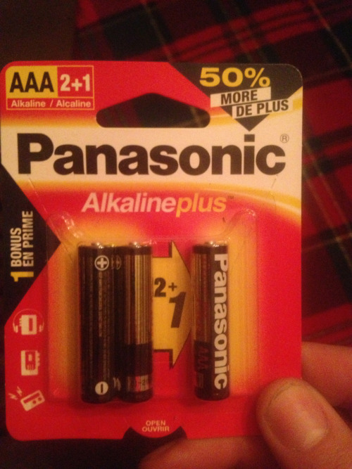 What sort of Stalinist bastard packages AAA batteries in a Three-pack? What is this, East Berlin?